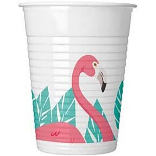 Flamingó Műanyag pohár 8 db-os 200 ml