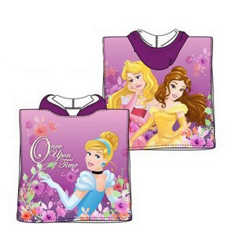 Disney Hercegnők strand törölköző poncsó 50*100cm